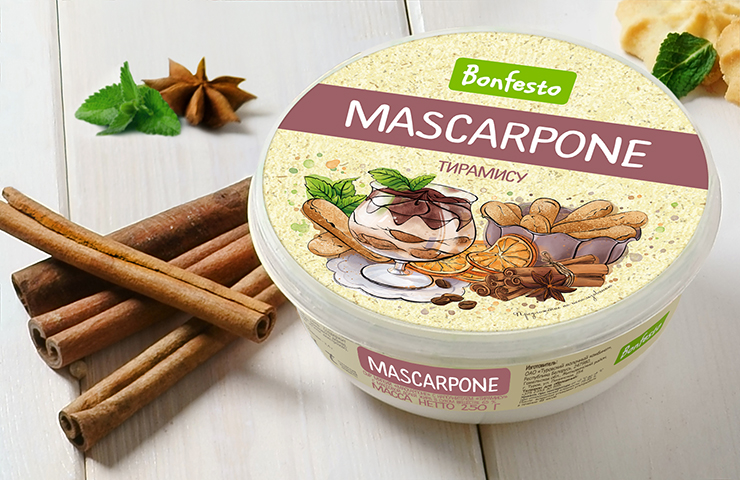 "Mascarpone with ""Tiramisu"" filler"