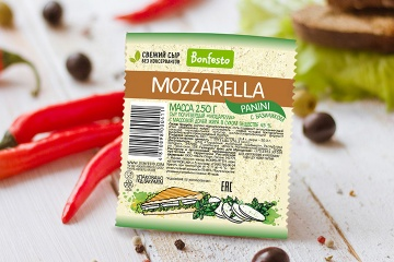 <span>Mozzarella</span><br> <span>Panini with basil 250 g</span>