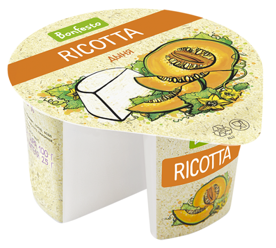 "Ricotta with fruit filler ""Melon"""